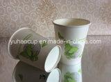 Устранимая кофейная чашка PLA Coated одностеночная бумажная (YHC-210)
