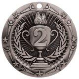 La decade assegna le medaglie del codice categoria del mondo dell'oro, dell'argento e del bronzo - viene con il nastro variopinto - materiale fatto dello zinco - perfezionare per la concorrenza di sport, del banco o dell'ufficio