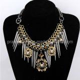 La joyería de moda de verano/ Collar con cadena ajustable de Oro chapado en plata de Antigüedades de la Mujer (PN-017)