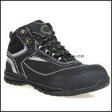 高い足首のMicrofiberの革流行の安全靴