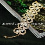 La primavera de la moda de joyería fina /Perlas Cristal Diamante blanco Material de aleación de zinc brazalete de oro chapado/ Mujer pulseras (PB-039)