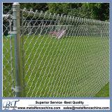 Kundenspezifischer überzogener Gavlvanized Kettenlink-Ineinander greifen-Zaun Farbe Belüftung-