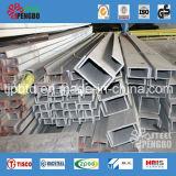 Perfil de canal de U de acero de carbón para la construcción