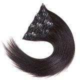 Grampo quente do Sell 2016 no grampo brasileiro do Virgin do cabelo reto no grampo principal cheio das extensões do cabelo no cabelo de Remy das extensões do cabelo humano
