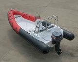 Aqualand 21.5feet 6.5m Sporten van de Boot/van de Rib van de Glasvezel de Stijve Opblaasbare/het Duiken/van de Redding/van de Patrouille Boot (rib650b)