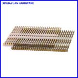 3.08*75mmの留め具のための電子電流を通されたプラスチック上塗を施してあるストリップの釘