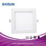 Ce/RoHS luz redonda/cuadrada de 9W del techo LED del panel para de interior