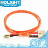 LC para Sc Fiber Optic Patch cabo multimodo Duplex Orange