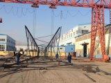 línea de transmisión eléctrica de acero galvanizada en baño caliente del ángulo 110kv torre