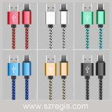 Cable micro de carga androide trenzado de nylon del USB de los datos