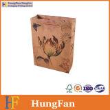 Bolsas de papel directas de Brown Kraft de los bolsos de compras de la fábrica