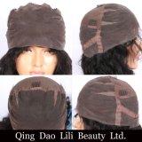 Lili-Schönheit zupften verworrene gerade Glueless volle Spitze-Menschenhaar-Perücken vor 130 Zoll Remy Haar-brasilianische Perücke gebleichten Knoten der Dichte-8-24