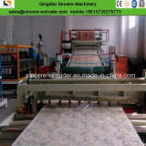 Línea de mármol hoja de mármol artificial de la protuberancia de la tarjeta del PVC que hace la máquina