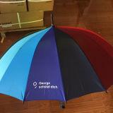 Promocional Auto Open 16k Colorful Rainbow Golf Rain Umbrella