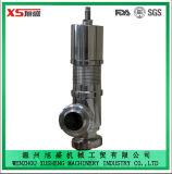 38,1 mm de aço inoxidável Ss304 Ss316L Válvula de alívio de segurança pneumática higiénica sanitária
