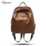Женские PU кожа рюкзак дамы повседневный взять на себя сумки коллаж стиль