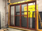 Пользовательские размеры двойные стекла балкон алюминиевые раздвижные двери