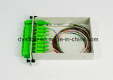 divisor óptico del PLC de fibra 1X2/1X4/1X8/1X16/1X32/1X64