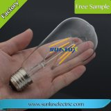 Retro E26 E27 Dimmable LED 전구 St64 110V 4W-8W Edison 필라멘트 램프