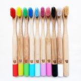Toothbrush di bambù del nero del Toothbrush di vendita calda biodegradabile