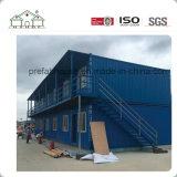 Casa de oficina prefabricada del envase del paquete plano del revestimiento económico del PVC para la venta