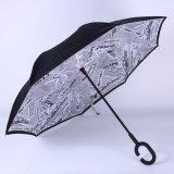 [دووبل لر] يعكس مظلة, مظلة [أنتي-وف] عكسيّة لأنّ سيارة مطر إستعمال خارجيّة, يعلن لعبة غولف مظلة خارجيّة