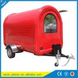 Acoplado rojo de la bici de la venta del carro del alimento de la salud para la venta de la máquina del aguanieve