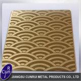 La Cina 201 304 316L ha inciso il lamierino laminato a freddo/lamiera dell'acciaio inossidabile
