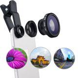 Universal 3 en 1 caméra fisheye objectif macro pour téléphone portable et PC Tablette