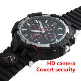 Buit-16GB HD 720p WiFi P2p IP-Uhr-Kamera-im versteckten Uhr-Mininocken mit LED