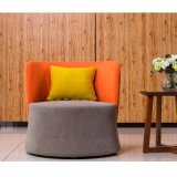 Gewebe-Farbe einzelnes Seater allgemeines Empfang-Sofa für Kaffeetisch