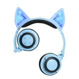 Auscultadores sem fio dos auriculares de Bluetooth do telefone móvel dos desenhos animados sem fio