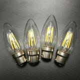 E14 E27 de filamento de lâmpada de luz LED branca quente de 4 W Círio regulável de luz de LED