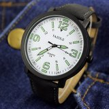 Z319 моды ремешок из натуральной кожи под торговой маркой смотреть студенческие кварцевые часы на запястье Liminous