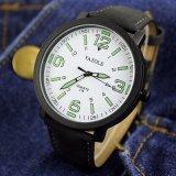 Form eingebrannte Uhr-Kursteilnehmer-Quarz-Armbanduhr Liminous der ledernen Brücke-Z319