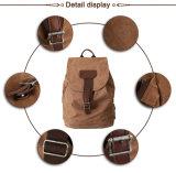 Weinlese-waschbarer Segeltuch-Rucksack für das Wandern