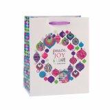 Blumen-Muster-Purpur-tägliche Notwendigkeiten, die Geschenk-Papierbeutel kleiden