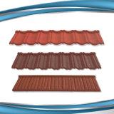 Azulejo de azotea revestido del metal de la nueva del diseño del material para techos plano piedra de la ripia