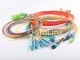 Cordon de brassage à fibres optiques/Câble patch avec SC, LC, ST, connecteurs FC