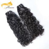 Trama cambojana do cabelo do preço de fábrica 100%Virgin da venda por atacado do cabelo de Alimina