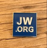 蘇州の青い正方形の円形のブローチJw。 Orgの折りえりPinのバッジ