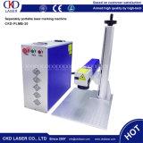 20W aperfeiçoam a máquina da marcação do laser da fibra do selo da placa de identificação do metal do cabo