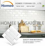 Дешевая самая лучшая Beveled кристаллический белая стеклянная белая плитка подземки