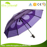 Le parapluie le meilleur marché de parapluie de promotion de parapluie de fois de la vente en gros 3