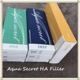 Injeções grandes secretas da extremidade do ácido hialurónico do Aqua