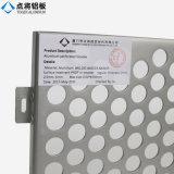 Feuillard en aluminium perforé personnalisé de trous pour la décoration de mur