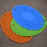 Küchenbedarf-Silikon-Gummi-füllt heißer Potenziometer-Halter Ellipse-Cup Placemat Tisch-Matte auf