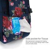 変更のパッドが付いている印刷された花のおむつ袋のおむつのバックパック