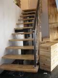 Escaleras rectas del solo soporte seguro del larguero con el pasamano de Rod del acero inoxidable