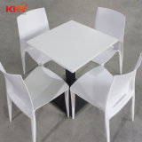 Le restaurant moderne de Surface solide table avec chaises 062202
